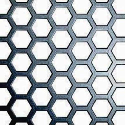 Perforated Sheets - Hexagonal Hole Perforated Sheet Exporter from ...