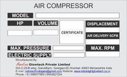 Air Compressor Labels