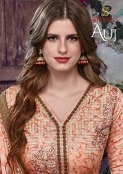 Pure Glez Cotton Exclusive Printed Designer Suit