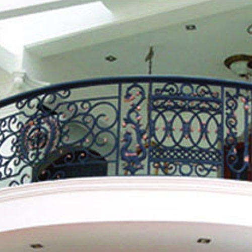Balcony window grills casting balcony grill for Balcony full grill design