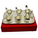 Silver Plated Brass Bowl with Tray Set