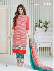 Red Ankle Length Salwar Suit