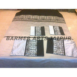 Silk Designer Embroidery Bed Cover