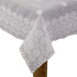 Hand Embroidered Chikan Table Cloth