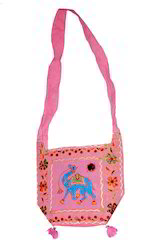 rajasthani embroidery shoulder bag