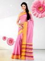 Fancy Plain Cotton Silk Saree