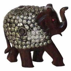 Wooden Stone Work Elephant