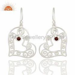 925 Silver Heart Design Girls Earrings