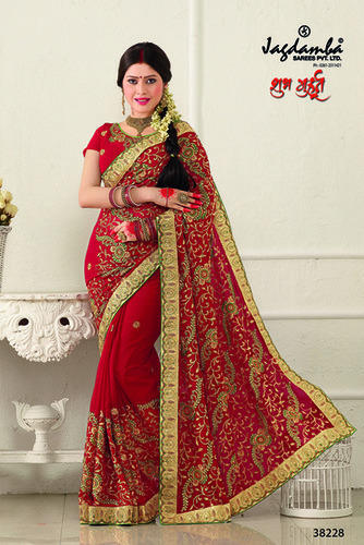 designer wedding saree