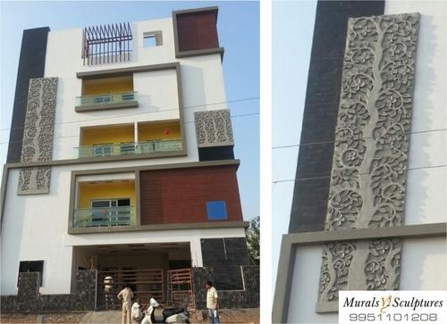 Elevation Stones In Hyderabad : Building elevation murals siporex mural on