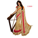 Net Border Ethnic Indian Sarees