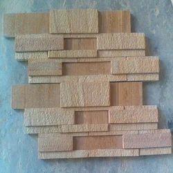 Teak 7Strip Stacking Mosaic Tile