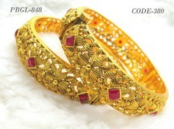 Fancy Ladies Ruby Stone Bangles