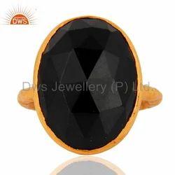 Handmade Black Onyx Gemstone Ring