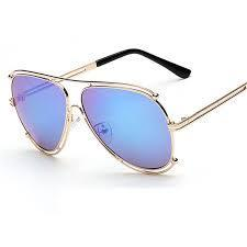 Designer Metal Frame Sunglasses