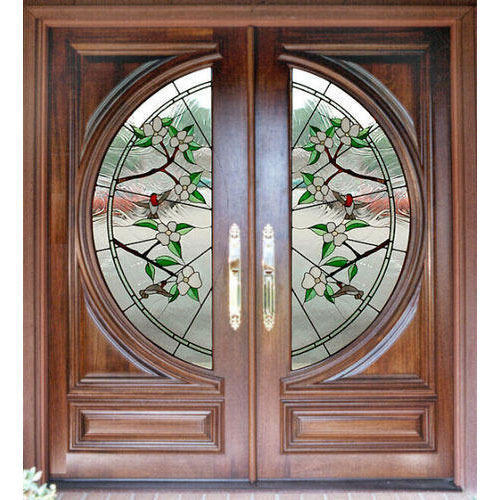 Designer Front Doors Stained Glass Wood Door Manufacturer From
