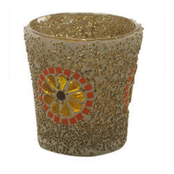 glitter votive candle light holder