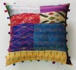 Silk Patchwork Cushion