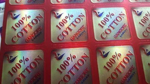 Metal printed stickers