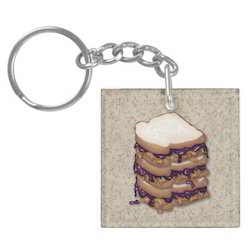 Acrylic Sandwich Key Chain