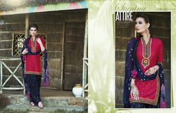 Embroidery worked Patiala Suit
