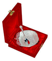 Silver Plated Brass Bowl Set With Beautiful Box