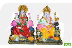 Vaah Polyresin Ganesha & Goddess Laxmi Statue