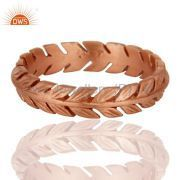 Rose Gold Plated Girls Band Ring