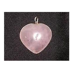 Rose Quartz Heart Shape Pendant