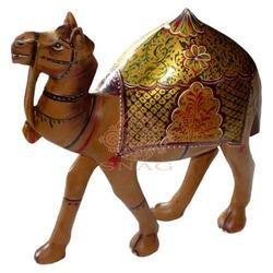 Wooden Painted Camel