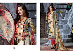 Long Unstitched Pushmina Suit