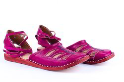 Leather Slippers - Pink