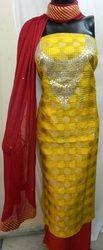 Aaditri Yellow Zari Kota Gota Patti Suit