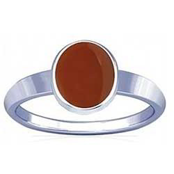 Carnelian Sterling Silver Ring