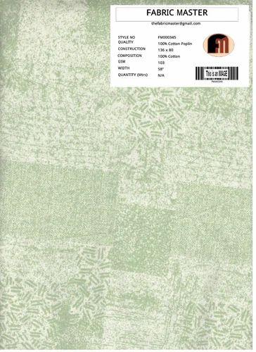 Cotton Poplin Fabrics FM000345