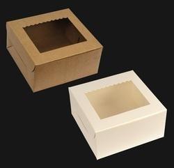 Cake Boxes - White/Brown Cake Box with Window Manufacturer from Mumbai