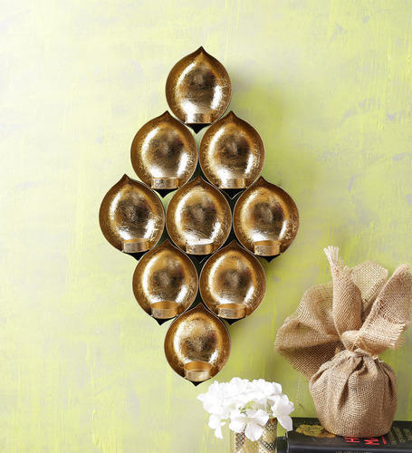T-Light & Tea Light - 9 T Light Holder Wall Hanging Diamond Shape ...