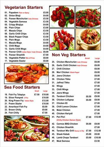 menu card services hotel menu card printing services