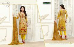 Fancy Glace Satin Salwat Suit