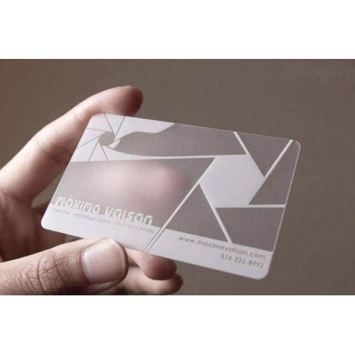 frosted plastic business cards - Translucent Business Cards