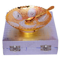 Gold and Silver Plated  Bowl Set