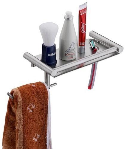 Shaving Shelf with Towel Hanger
