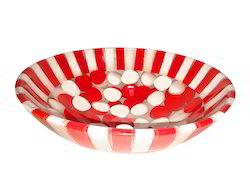 Prayosha Red White Resin Washbasin