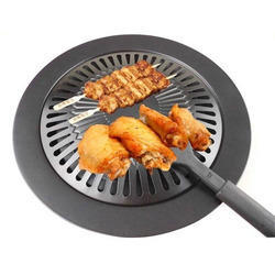 Smoke Free BBQ Barbecue Grill Plate