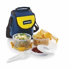 Vertical Type Plastic Lunch Box With 2 Containers
