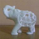 Beautifully Carved White Stone Elephant