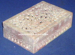 Soapstone Carving Jewellery Box