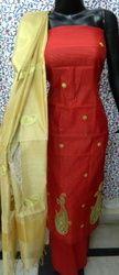 Aaditri Red Chanderi Gota Patti Suit