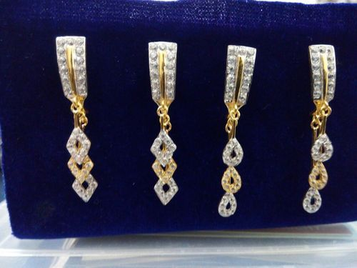 Gold Earrings Gold Casting Earring With Latkan Wholesale Supplier
