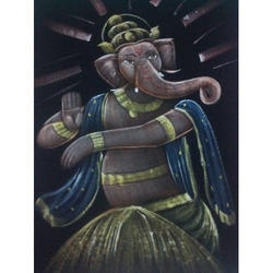 Painting of Dancing Ganesha